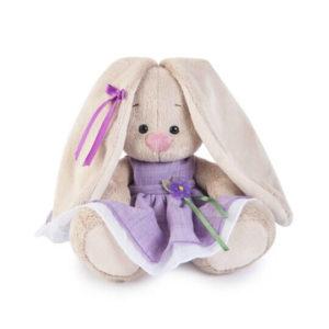 Зайка Ми в фиолетовом платье с цветочком
