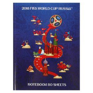 Бизнес-блокнот А5, 80 листов, «ЧМ по футболу 2018», твёрдая обложка