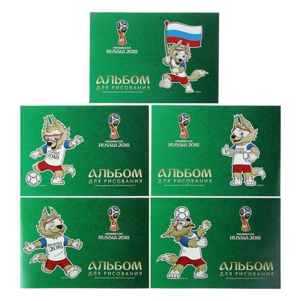 Альбом для рисования А4 12 листов «ЧМ по футболу 2018 Талисман»