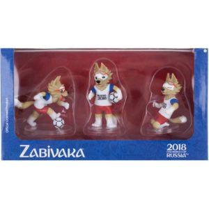 FIFA-2018, Фигурка Волк Забивака, №1, 6 см, 3 штуки в подарочной коробке