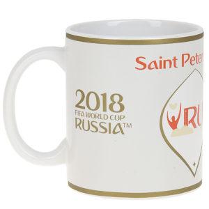 """Кружка керамическая """"ЧМ 2018-Saint Petersburg"""", 330мл"""