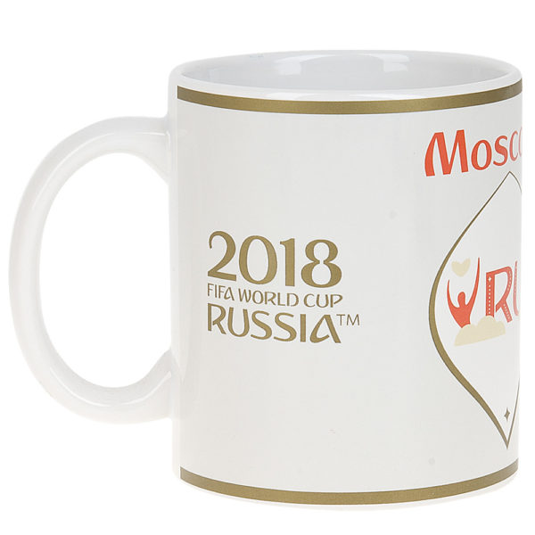 """Кружка керамическая """"ЧМ 2018-Moscow"""", 330мл."""