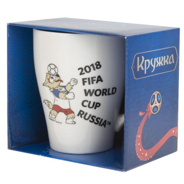 """Кружка фарфоровая """"ЧМ 2018"""" v=400мл. (подарочная упаковка)"""