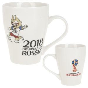 Кружка с Забивакой и Эмблемой ЧМ 2018, 400 мл