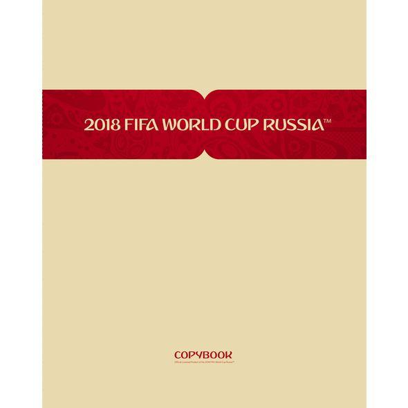 Тетрадь 80 листов клетка «ЧМ по футболу 2018», мелованный картон, матовая ламинация (4 вида)