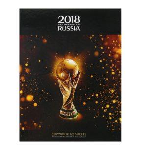 Тетрадь А5, 120 листов на кольцах «ЧМ по футболу 2018. Золотой кубок»