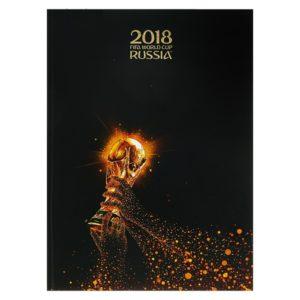 Бизнес-блокнот А4, 80 листов «ЧМ по футболу 2018. Золотой кубок», твёрдая обложка матовая ламинация, 3D фольга