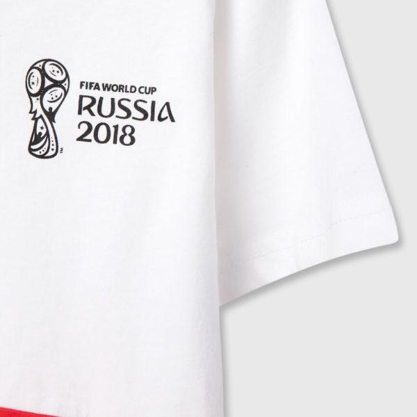 Футболка трехцветная с принтом FIFA для мальчиков