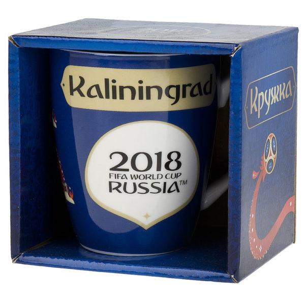 Кружка фарфоровая «ЧМ 2018 Калининград» 360 мл, подарочная упаковка