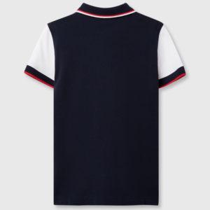 Поло трехцветное для мальчиков с вышивкой эмблемы ЧМ 2018 FIFA