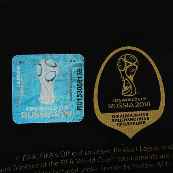 Тетрадь 96 листов клетка «ЧМ по футболу 2018», мелованный картон, матовая ламинация, 3D фольга