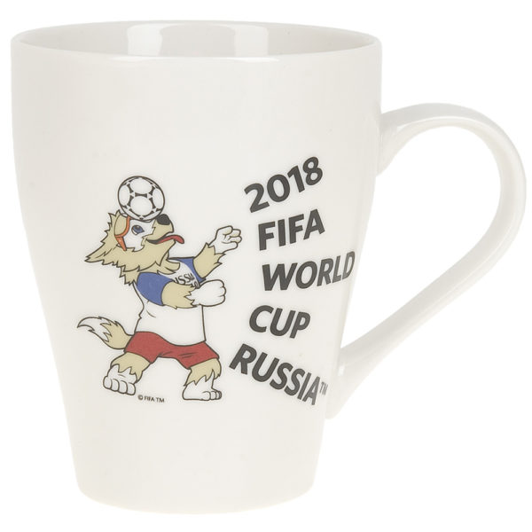 """Кружка фарфоровая белая """"ЧМ 2018"""" 400мл"""