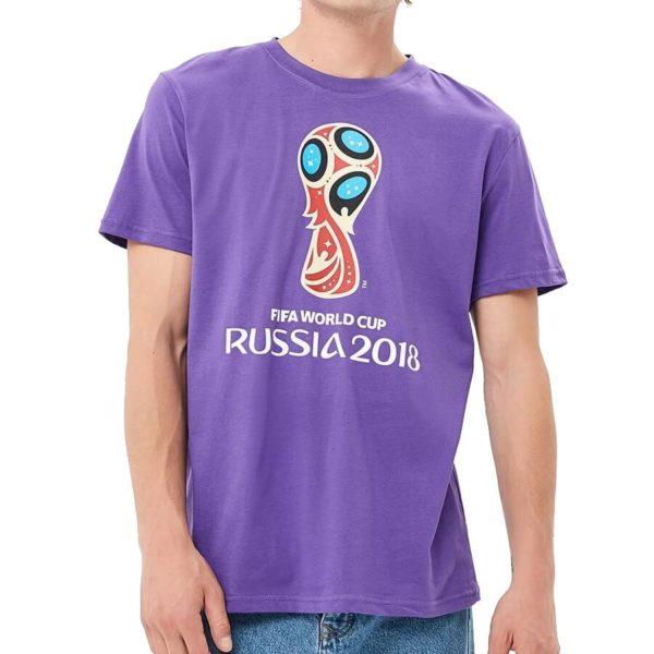 Футболка FIFA 2018 «Эмблема» фиолетовая