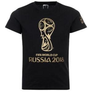 Футболка детская черная с золотой эмблемой ЧМ