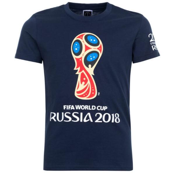 Футболка детская 2018 FIFA World Cup Russia™ темно-синяя с эмблемой
