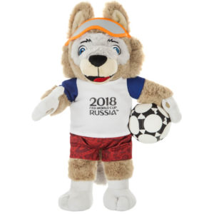 FIFA-2018, «Волк Забивака» игрушка в пакете, 28см