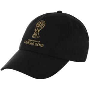 Бейсболка черная 2018 FIFA World Cup Russia™ с золотой вышивкой