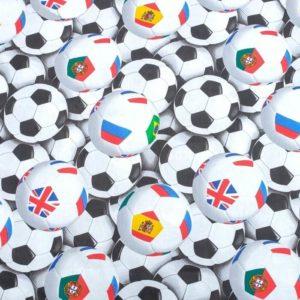 Постельное белье 1,5-спальное «Футбольные мячи»