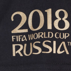 Поло мужское ЧМ-2018 с золотой эмблемой