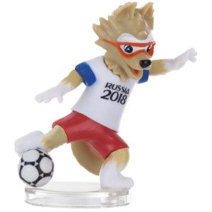 FIFA-2018, Фигурка Волк Забивака, №2, 6 см, 3 штуки в подарочной коробке